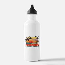 California Beaches Sunset Water Bottle