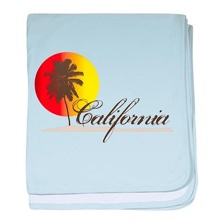 California Sunset baby blanket