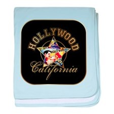 Hollywood CA Walk Of Fame baby blanket