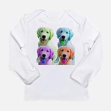 Golden Retriever Warhol Long Sleeve Infant T-Shirt
