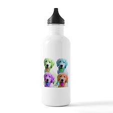 Golden Retriever Warhol Water Bottle