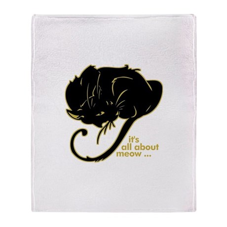All About Meow! Throw Blanket