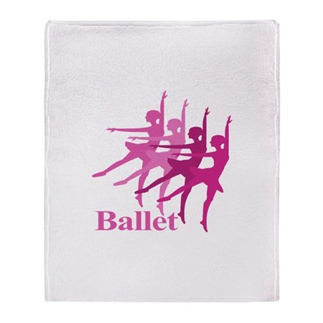 Ballerinas Dance Ballet Throw Blanket