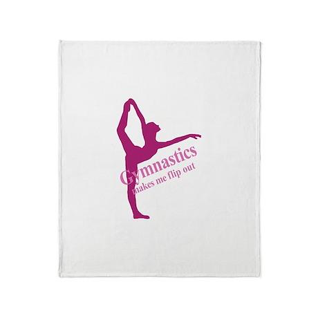 Gymnastics Makes Me Flip Out Throw Blanket