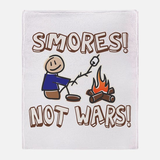 S'mores Not Wars! SMORES Throw Blanket