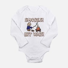S'mores Not Wars! SMORES Long Sleeve Infant Bodysu