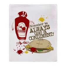 Always Use A Condiment! Throw Blanket