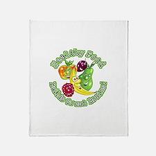 Healthy Food Builds Great Bra Throw Blanket