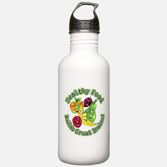 Healthy Food Builds Great Bra Water Bottle