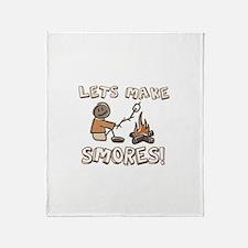 Lets Make SMORES! Throw Blanket