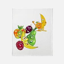 Healthy Happy Fruit Throw Blanket