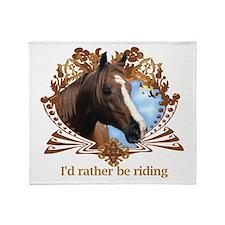 Cute Ponies Throw Blanket