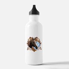 Horse Lover Crest Graphic Water Bottle