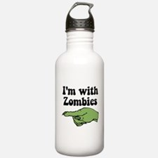 I'm With Zombies Water Bottle
