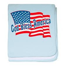 GOD BLESS AMERICA baby blanket