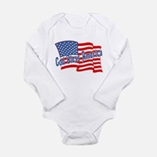 GOD BLESS AMERICA Long Sleeve Infant Bodysuit