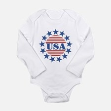 USA Fourth of July Long Sleeve Infant Bodysuit