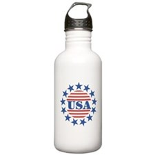 USA Fourth of July Water Bottle