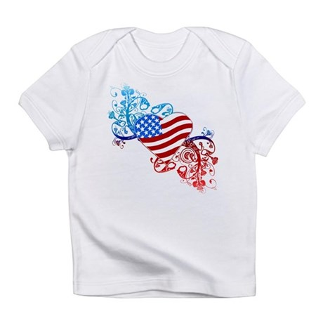 July 4th Heart Scroll Infant T-Shirt