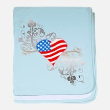 Independence Day Heart baby blanket