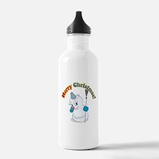 Merry Christmas Snowman Water Bottle