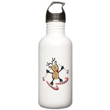 SNOW SKIING REINDEER Water Bottle