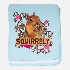 Squirrely Squirrel Lover baby blanket