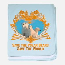 Save The Polar Bears baby blanket
