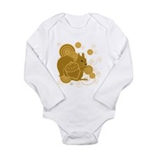 Squirrely Squirrel Long Sleeve Infant Bodysuit