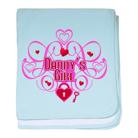 Pink - Daddy's Girl baby blanket