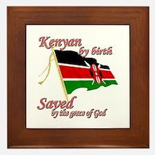 Kenyan by birth Framed Tile