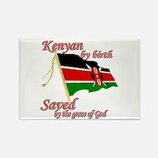 Kenyan by birth Rectangle Magnet