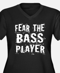 Fear The Bass Player Women's Plus Size V-Neck Dark