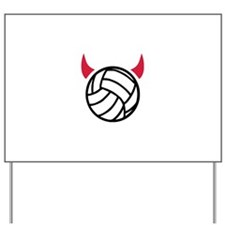 Volleyball devil Yard Sign