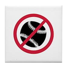 No baseball Tile Coaster