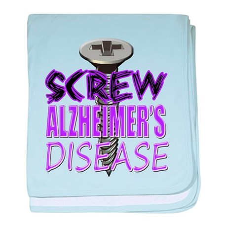 Screw Alzheimer's Disease baby blanket