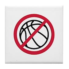 No basketball Tile Coaster
