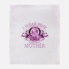 I Wear Pink for my Mother (fl Throw Blanket