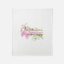 Survivor Floral Throw Blanket