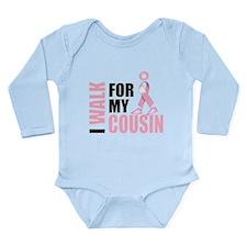 I Walk for my Cousin Long Sleeve Infant Bodysuit