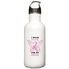 I Wear Pink for my Mom Water Bottle