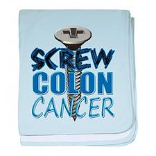 Screw Colon Cancer baby blanket