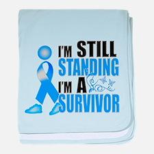 Still Standing I'm A Survivor baby blanket
