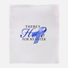 There's Hope for Colon Cancer Throw Blanket