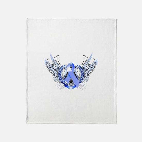Awareness Tribal Blue Throw Blanket