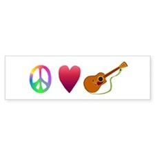 Peace,Luv, Guitar Bumper Sticker