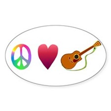 Peace,Luv, Guitar Decal