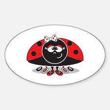 Little Ladybug Oval Decal