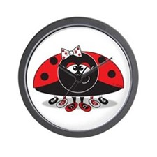 Little Ladybug Wall Clock