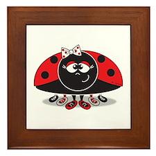 Little Ladybug Framed Tile